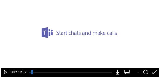 Start chats and make calls