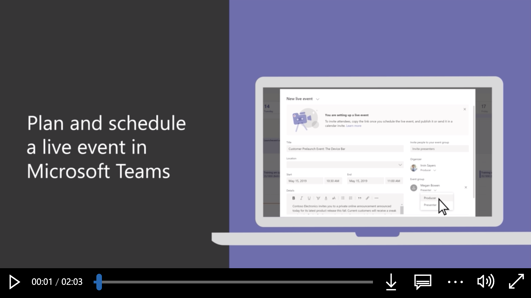 Plan and schedule a live event in Teams